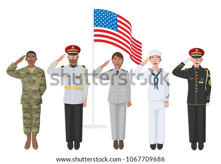 five american soldiers in