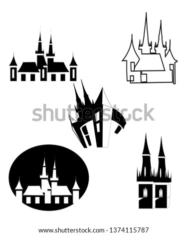 five black and white logo of