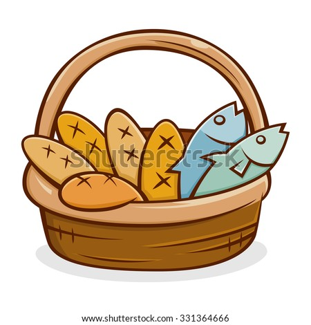 five bread and two fish in a