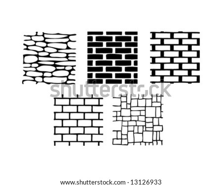 Five brick and stone textures
