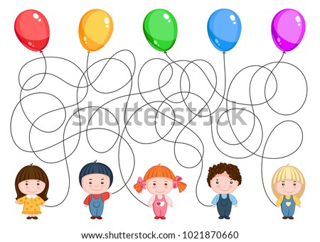 five children hold balloons