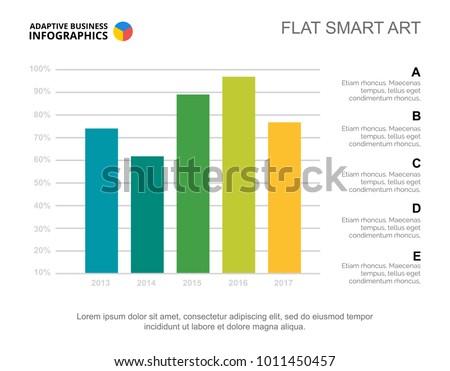 Five Columns Bar Chart Slide Template