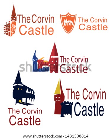five corvinus castle logos on a