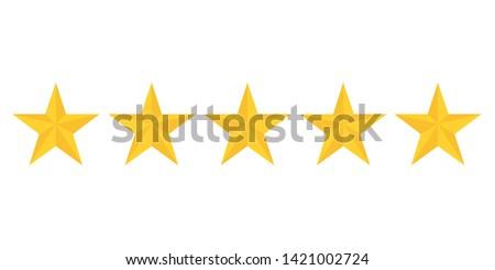 five golden stars rating