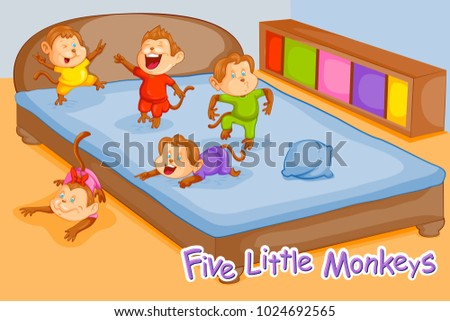 five little monkeys  kids