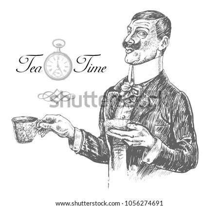 five o'clock tea time elegant