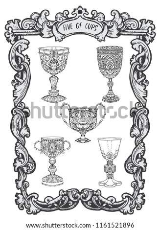 five of cups minor arcana