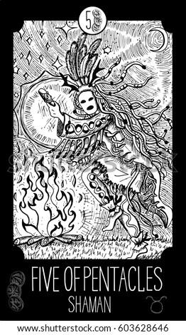 five of pentacles shaman
