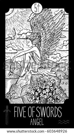 five of swords angel minor