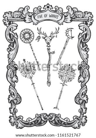 five of wands minor arcana