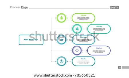 Five Options Flowchart Slide Template