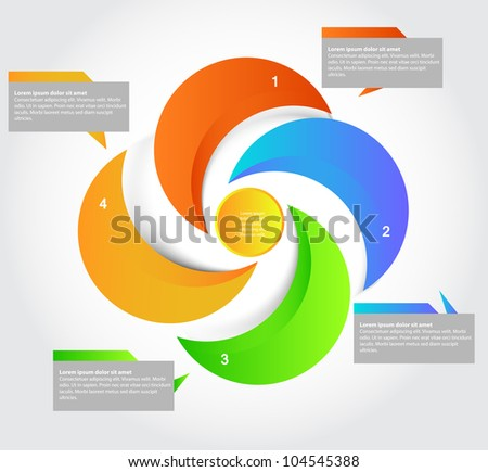 Five parts presentation, vector