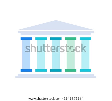 Five pillars diagram. Clipart image isolated on white background Stockfoto ©