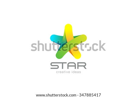 five point star logo design