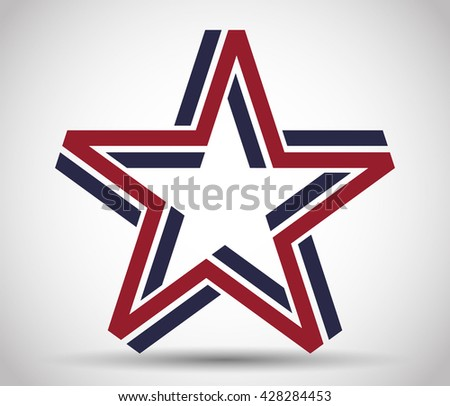 five pointed star made from
