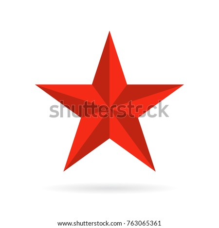 five pointed star vector icon...