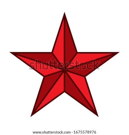 five pointed star vector icon