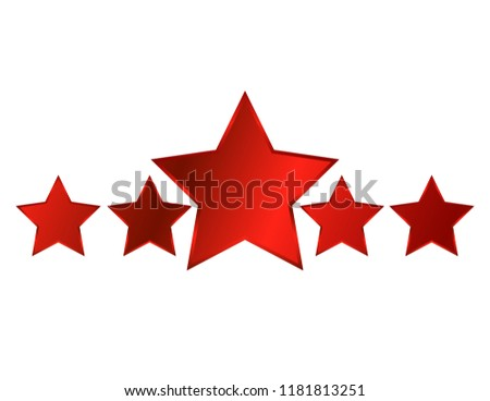 five red stars
