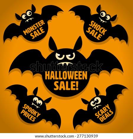 five scary little black bat