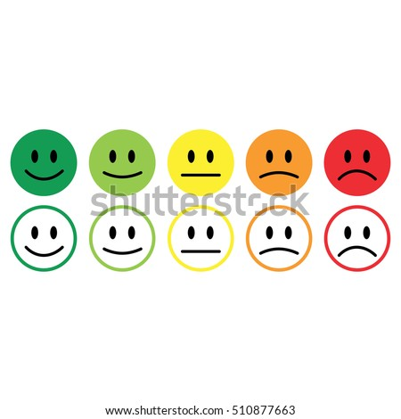 five smile icon emotions