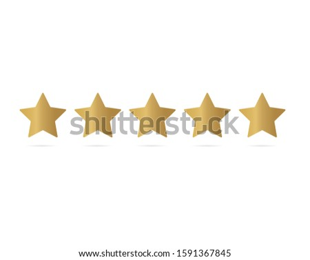five star rating icon  vector