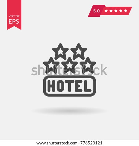 five stars hotel icon travel