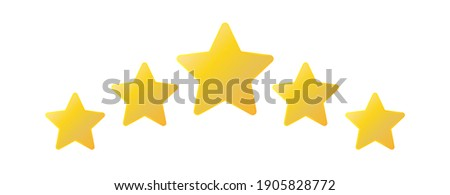 Five stars icon. Stars rating review icon. Vector illustration