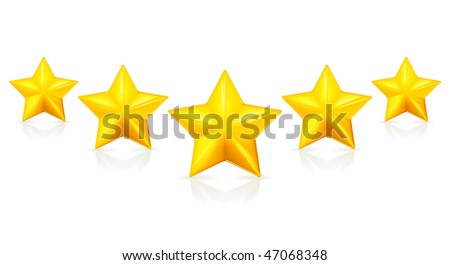 Five stars, Mesh - stock vector