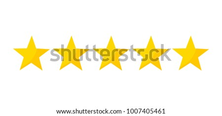 Five stars rating icon. Vector illustration