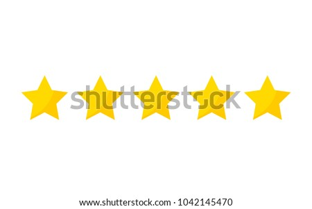 five stars rating icon vector