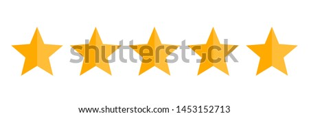 Five stars rating vector icon