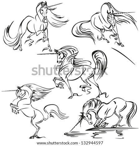 five unicorn themes brush