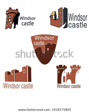 five windsor castle logos on a