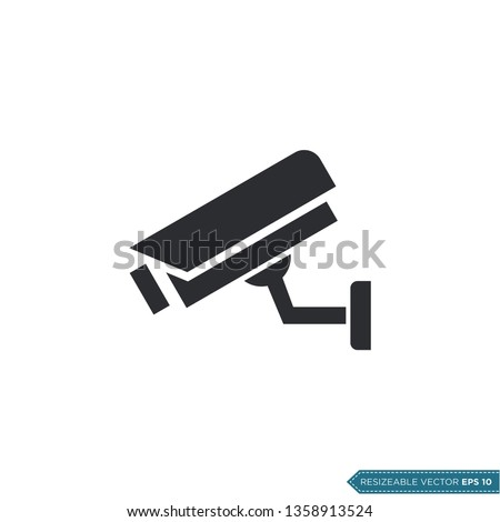 Fixed CCTV, Security Camera Icon Vector Template Illustration Design