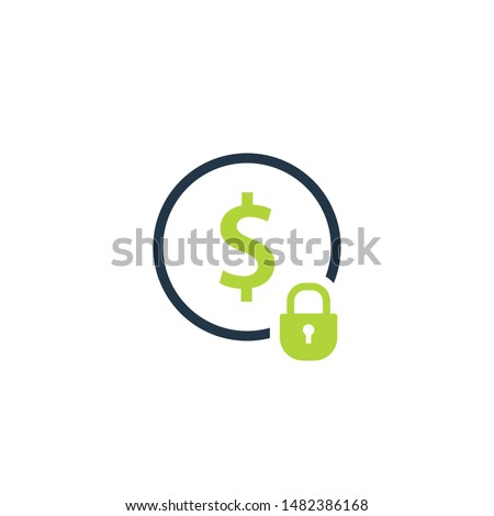 Fixed costs icon. Clipart image isolated on white background