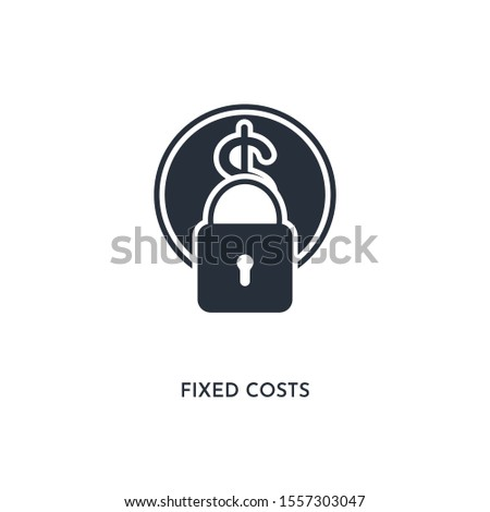 fixed costs icon. simple element illustration. isolated trendy filled fixed costs icon on white background. can be used for web, mobile, ui.