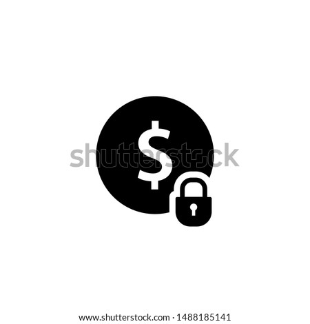 Fixed costs silhouette icon. Clipart image isolated on white background