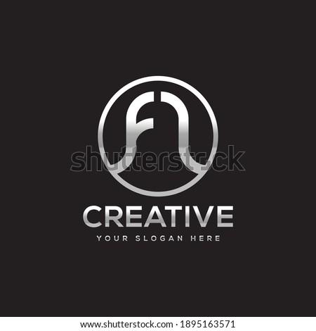 FL Creative Logo Design - F and L Stock fotó ©