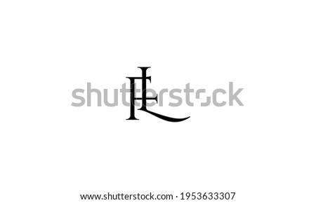 FL letter Type Logo Design vector Template. Abstract Letter FL logo Design Stock fotó ©