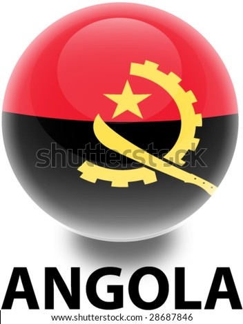 Flag Angola Orb - stock vector