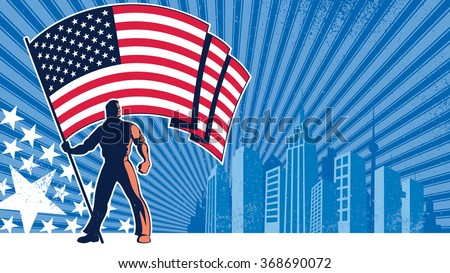 flag bearer usa background ...