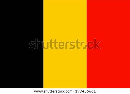 flag belgium original vector