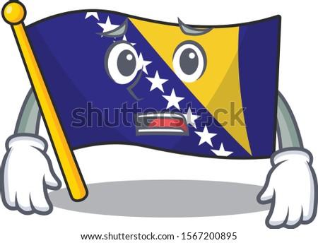 flag bosnia cartoon character