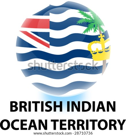 Flag British Indian Ocean Territory Orb