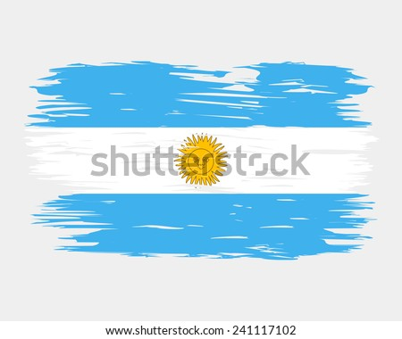 flag brush argentina the