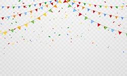 flag confetti party Colorful celebration Festa junina background.