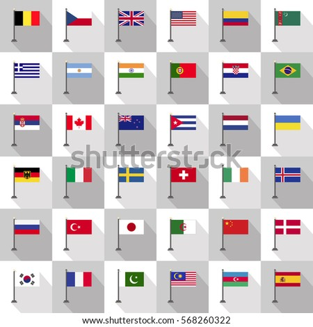 flag country icon vector