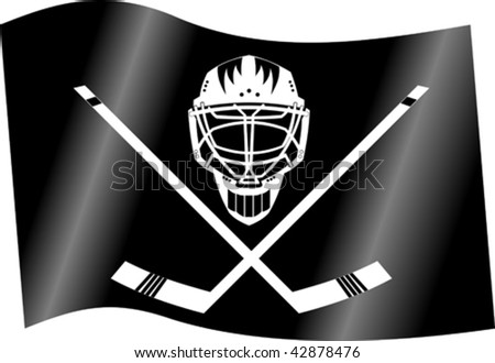 flag for hockey club; (vector and illustration);