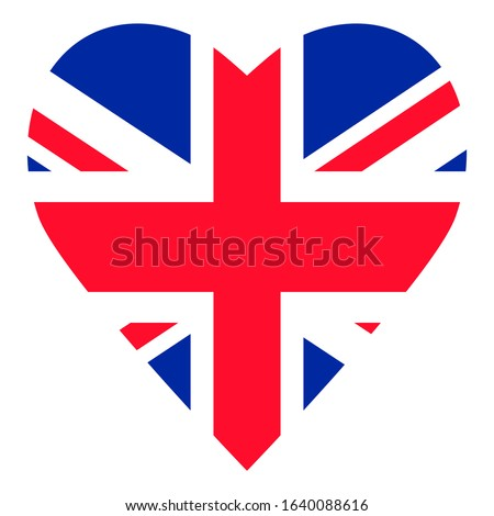 flag great britain heart on