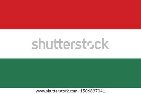 Flag, Hungarian, background, illustration, high resolution, vector, color, standard